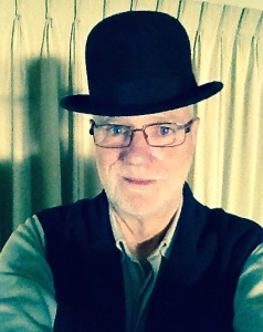 Wearing my father's 'restored'  bowler hat.