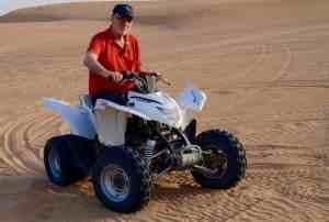 Quad-bike riding in the dunes.