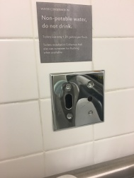 Drinking from the toilet bowl–Californians may need instructions.