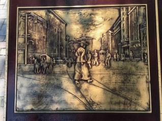 Bronz reproduction taken from a photograph–Winnipeg.